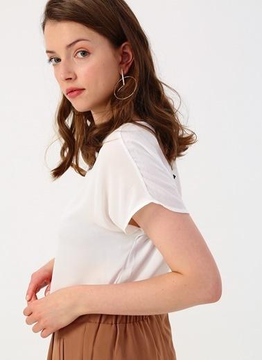 Koton Koton Kırık Beyaz Basic Bluz Ekru